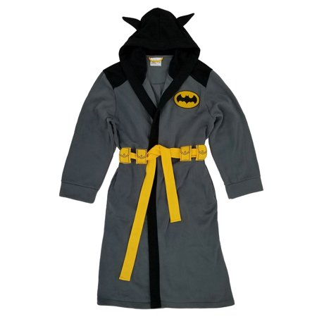 Batman DC Comics Mens Gray Hooded Bath Robe House Coat S/M](Batman Robe)
