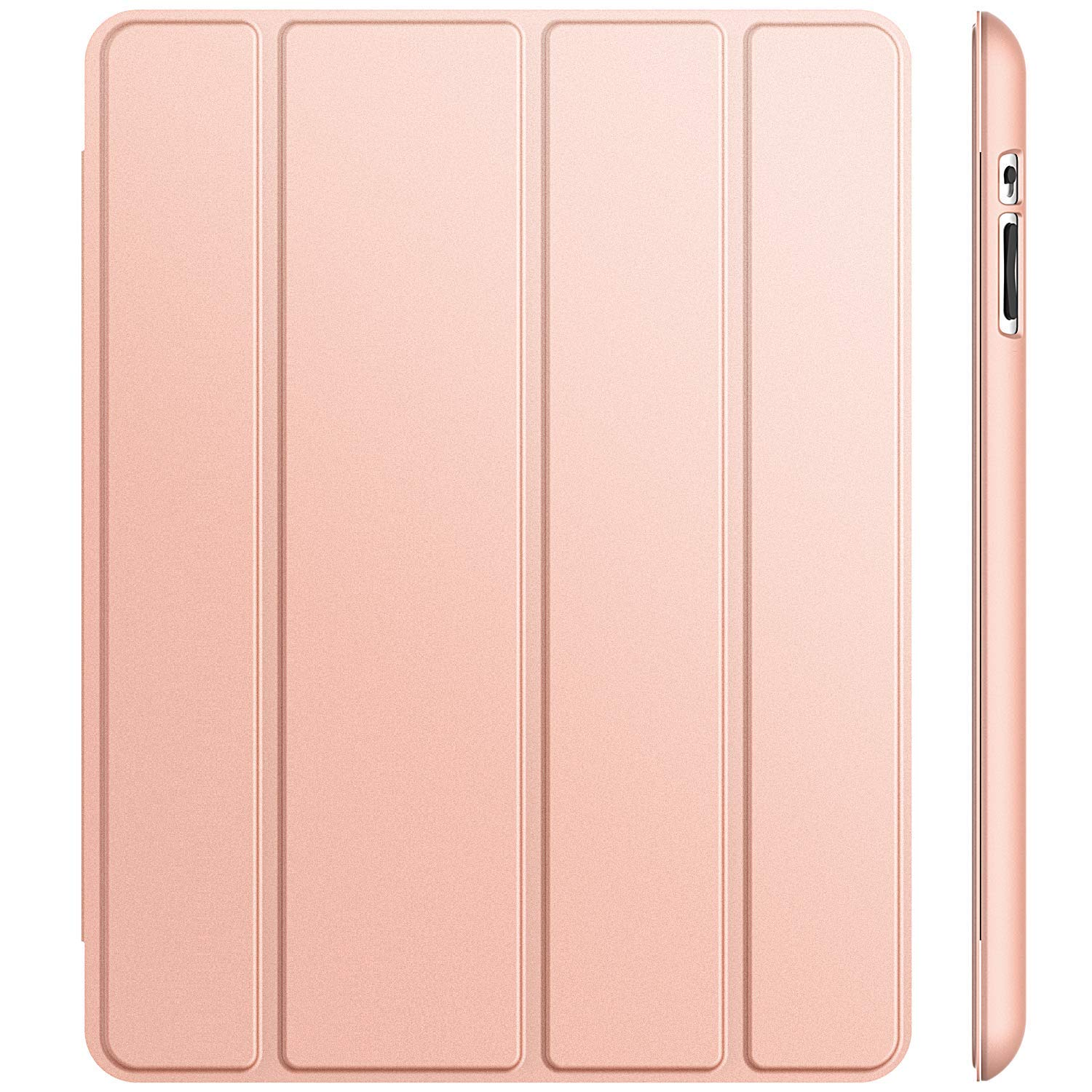 ETech Case for iPad 2 3 4 (Old Model) Smart Cover with Auto Sleep/Wake, Rose Gold