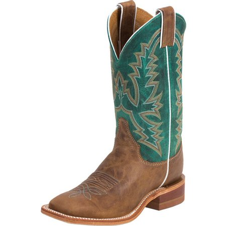 Justin Boot Company Womens  Bent Rail Burnished Tan Cowgirl Boots (Justin Boots Womens)