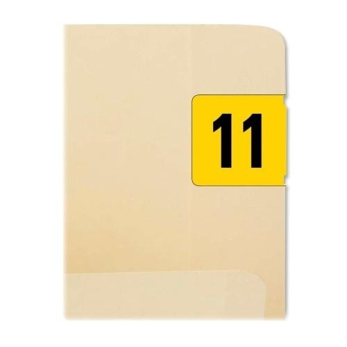 """68311 Smead 68311 Yellow ETYJ Color-Coded Year Label - 2011 - 1.50"""" Width x 0.75"""" Length - 500 / Roll - Rectangle - 500/Roll - Paper - Yellow"""
