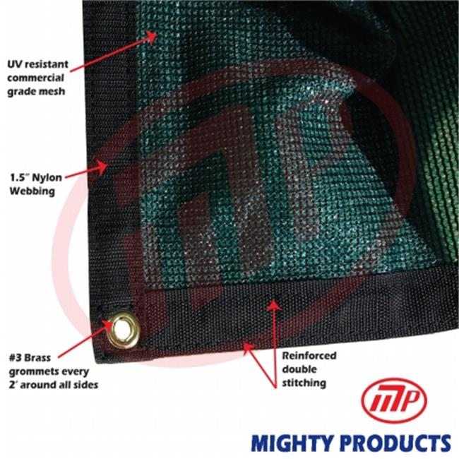 Mighty Products BMN-MS90-G1216 12 x 16 ft.  - 90 Percent Premium Shade Fabric, Shade Cloth, Shade Sail, Sun Shade - Green
