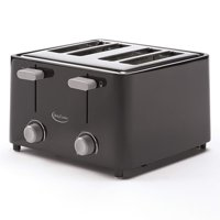 Betty Crocker BC-2626CB 4-Slice Toaster, Black