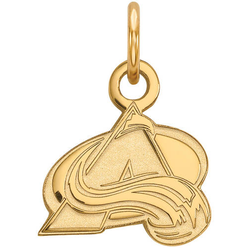 LogoArt NHL Colorado Avalanche 14kt Gold-Plated Sterling Silver Extra Small Pendant