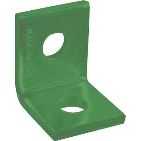 Two-Hole Corner Angle Plate, Green, Set of 10 - Green Plate Set