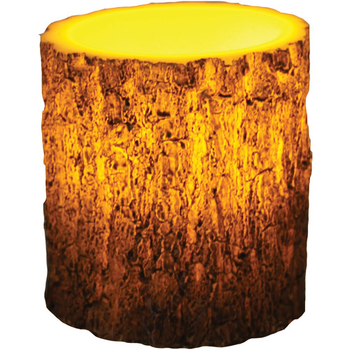 "River's Edge Products LED Tree Bark Candle, 4"" x 5"""