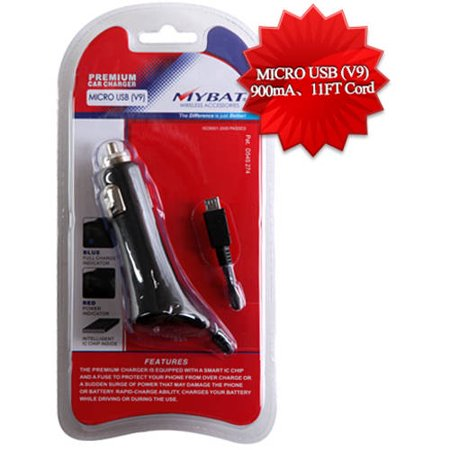 Motorola V8/V9M microUSB MyBat Executive Car Charger with Package