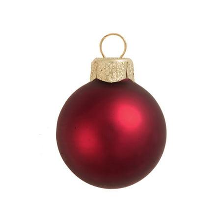 Northlight 40ct Matte Glass Ball Christmas Ornament Set 1.5