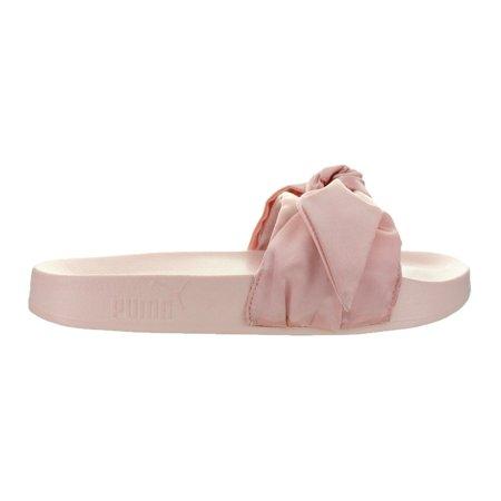 sports shoes bb2ff 96d30 Puma - Womens Puma x Fenty By Rihanna Bow Slide Silver Pink Puma Silver  36577 - Walmart.com