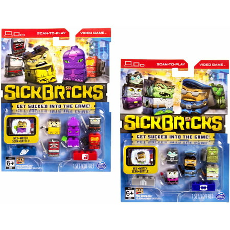 Sick Bricks, 10 Character Pack, Monsters vs. City/Space vs. - The Aristocats Characters
