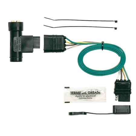 hopkins 41105 plug-in simple vehicle wiring kit, t-connectors allow you to