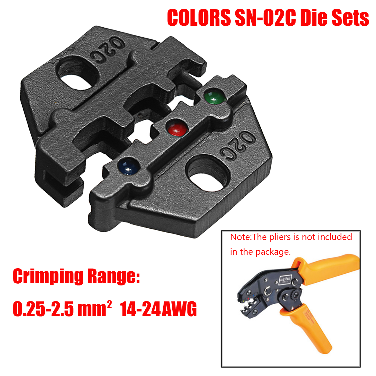 SN-02C Steel Die Sets for SN Crimping Plier Series 0.25-2.5mm2 14-24AWG  new 1