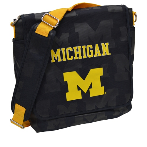 NCAA Diaper Bag by Lil Fan, Messenger Style - Michigan Wolverines