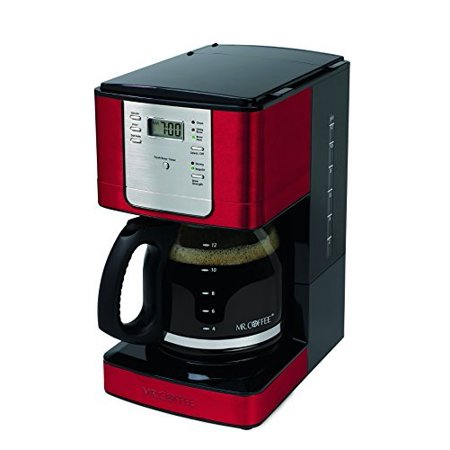 Mr. Coffee Advanced Brew 12-Cup Programmable Coffee Maker - Red/Stainless