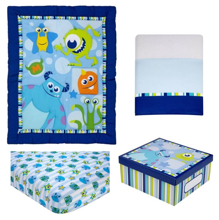 Disney Monsters On the Go 4 Piece Crib Bedding Set