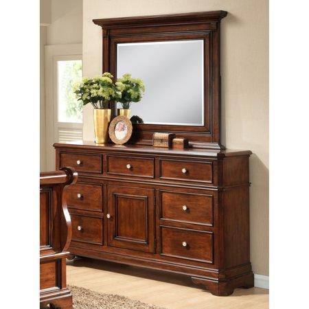 Lyke Home  Bayer Cherry Dresser And Mirror Set