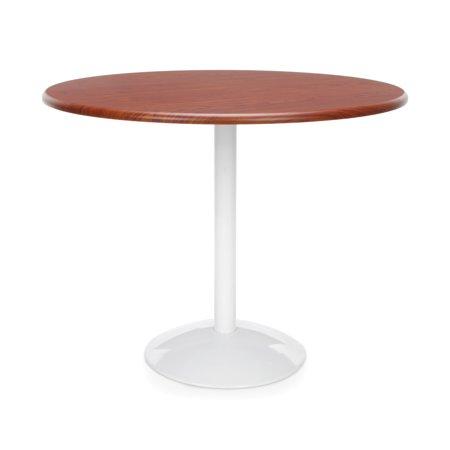 40 Inch Glass Bar Table - OT36RD-CHY restaurant Furniture 36 Inch Orbit Series Sleek design 150 lbs capacity cafeteria Bar CHERRY melamine top Round Table