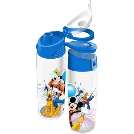 Disney Fiver Group Mickey Minnie Goofy Donald Pluto Flip Top Bottle (Mickey Minnie And Pluto Halloween Costumes)