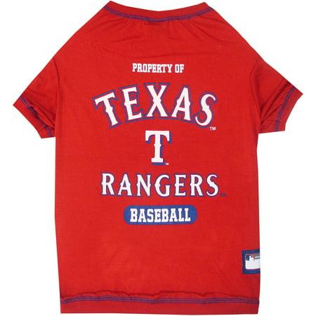 Pets First Mlb Texas Rangers Pet T Shirt  Assorted Sizes