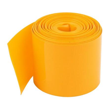 Unique Bargains 5Meter 29.5mm Width PVC Heat Shrink Tubing Sleeving Orange for 1 x 18650 -