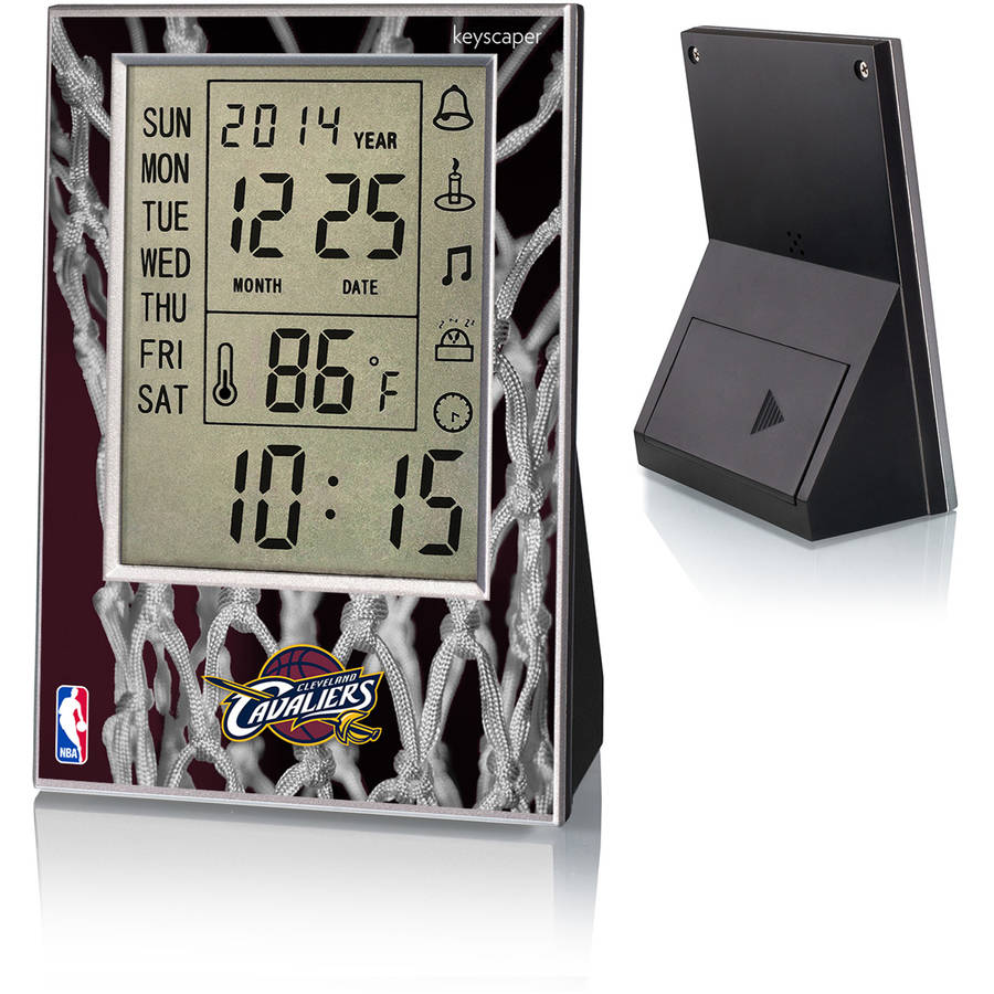 Cleveland Cavaliers Net Design Digital Clock by Keyscaper