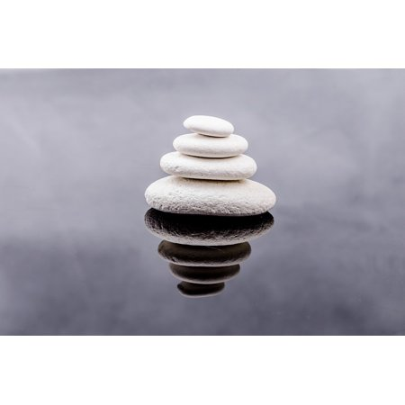 - LAMINATED POSTER Zen Close-up Spa Stone Alternative White Rock Poster 24x16 Adhesive Decal