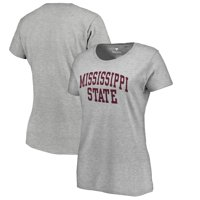 Mississippi State Bulldogs Fanatics Branded Women's Basic Arch T-Shirt - Gray