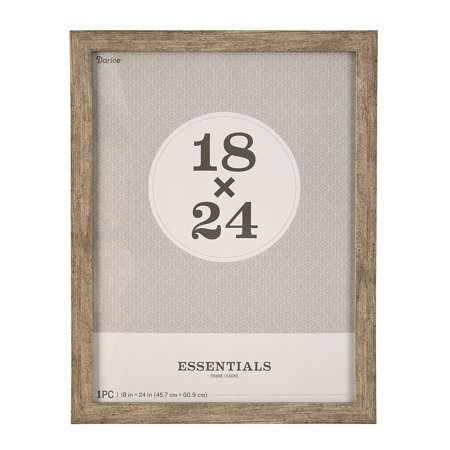 - Essentials Picture Frame: Grey, 18 x 24 inches