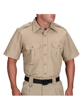 Tactical Battle Rip Shrink Wrinkle Resistant Dress Shirt - Short Sleeve