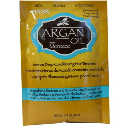 Hask Argan Oil From Morocco, Intense Deep Conditioning Hair Treatment, 1.75 oz (Pack of