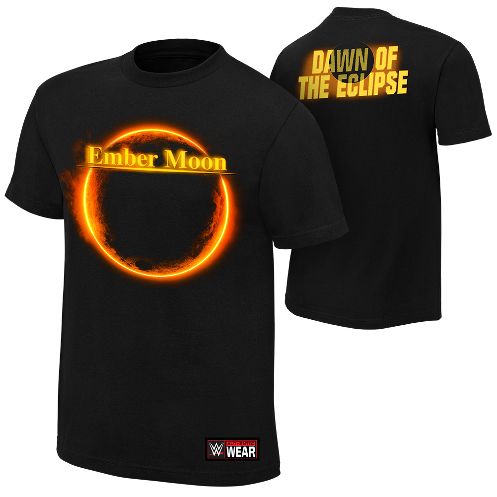 "Official Wwe Authentic Ember Moon ""Dawn Of The Eclipse""  T-Shirt Black Small"