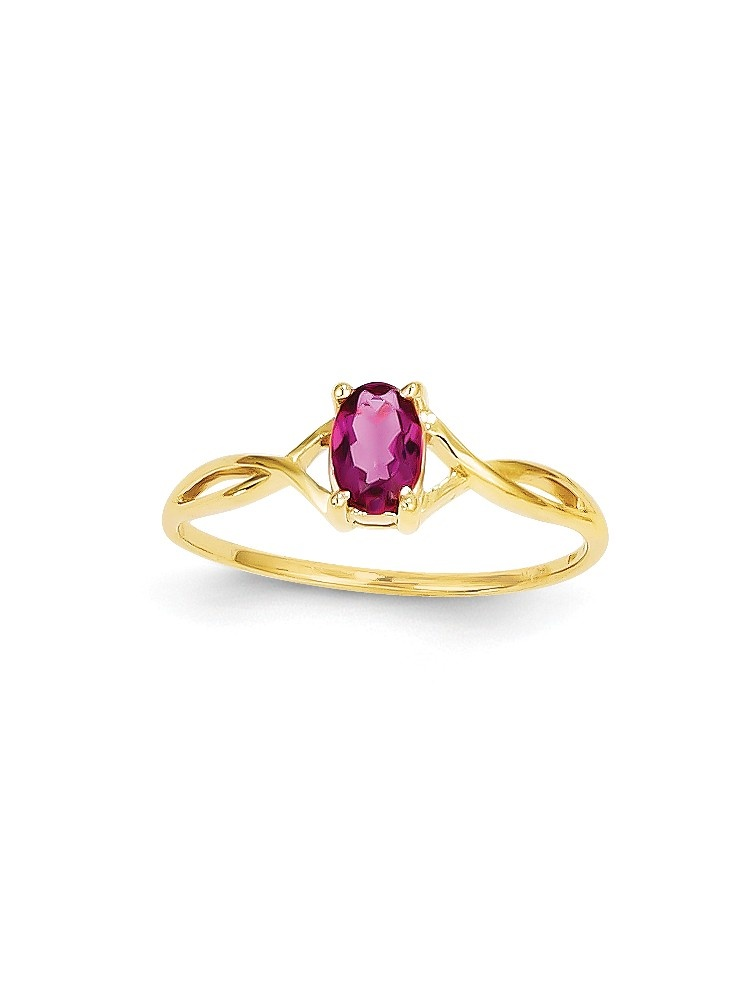 ICE CARATS 14kt Yellow Gold Pink Tourmaline Birthstone Band Ring Size 7.00 Stone October Oval Style Fine Jewelry Ideal... by IceCarats Designer Jewelry Gift USA