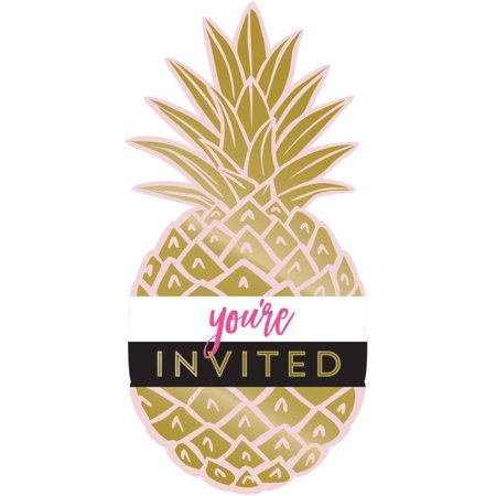 Creative Converting Pineapple Wedding Invitation Postcard, Foil, 8 ct](Postcard Invitations)