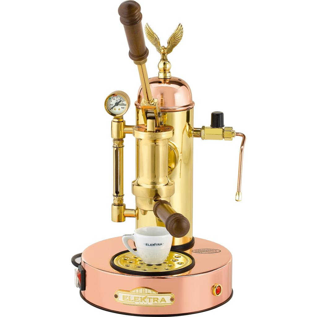 Elektra Micro Casa a Leva Lever Espresso Machine Copper and Brass ART.S1 by