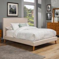 Alpine Furniture Britney Upholstered Platform Bed, Multiple Sizes