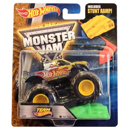 2016 Team Hot Wheels 1:64 Scale #39 Mud Treads with Stunt Ramp, 1:64 Scale By Monster (Mud Trucks For Sale In Florida Cheap)