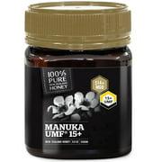 100% Pure New Zealand UMF 15+ (MGO 514+) Raw Manuka Honey - All Blacks Official Licensed - 8.8 oz / 250g