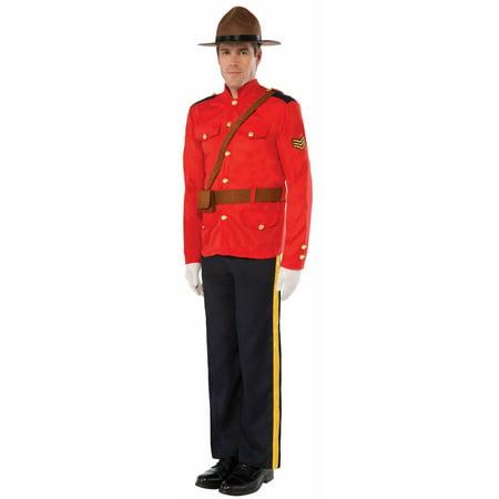 Halloween Mountie Adult Costume - Halloween 1/2 Off Sale
