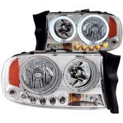 ANZO 1997-2004 Dodge Dakota Crystal Headlights Chrome 1pc