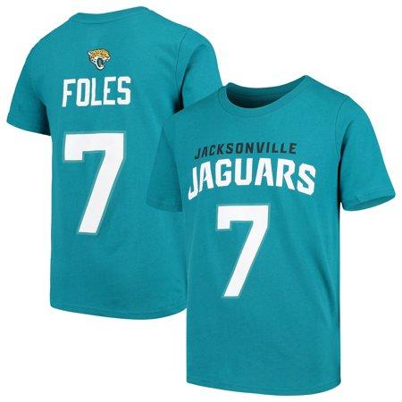 best website 29d82 efa50 Nick Foles Jacksonville Jaguars Youth Mainliner Name & Number T-Shirt - Teal