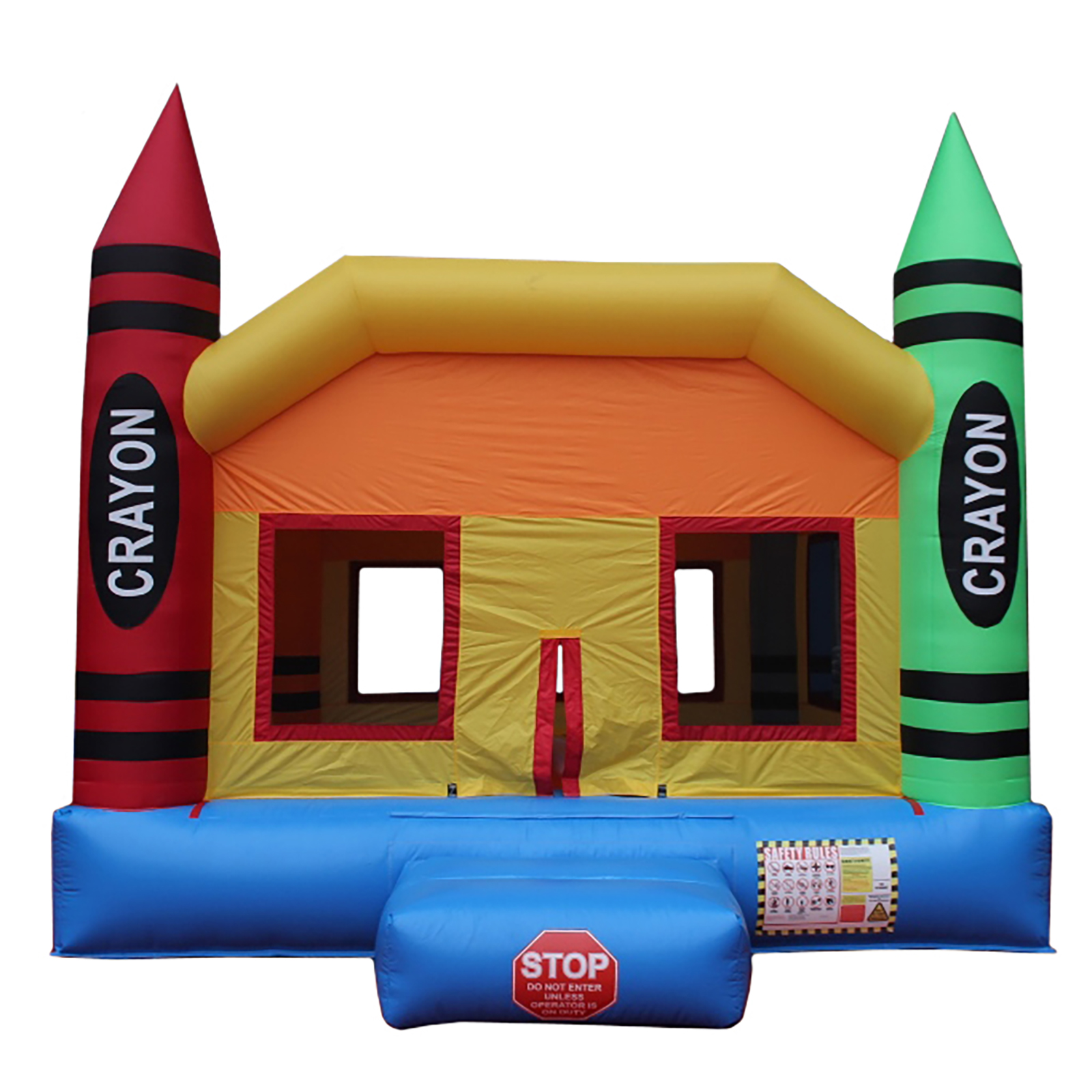 Inflatable Crayon Commercial Grade A Bounce House Bouncy Jumper + Blower