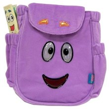 """Dora the Explorer Small Toddler 10"""" Plush Backpack Book Bag Pack by GDC"""