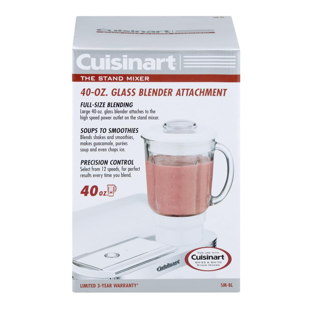 Cuisinart The Stand Mixer 40 OZ Glass Blender Attachment, 1.0 CT
