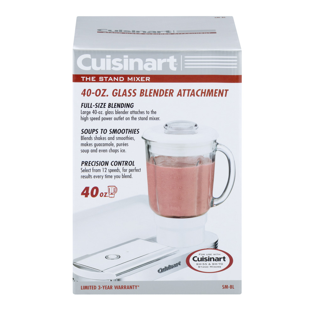 Cuisinart The Stand Mixer 40 OZ Glass Blender Attachment, 1.0 CT