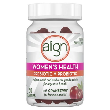Align Women's Prebiotic + Probiotic Supplement Gummies, with Cranberry for Feminine Health, 50ct, #1 Doctor Recommended