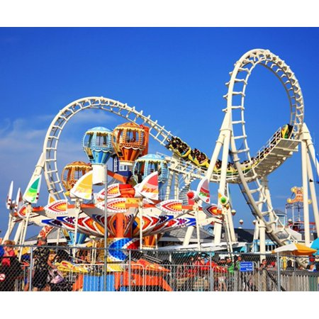 GreenDecor Polyster 7x5ft Amusement Park Theme Children Photography Indoor Backdrop Prop Photo