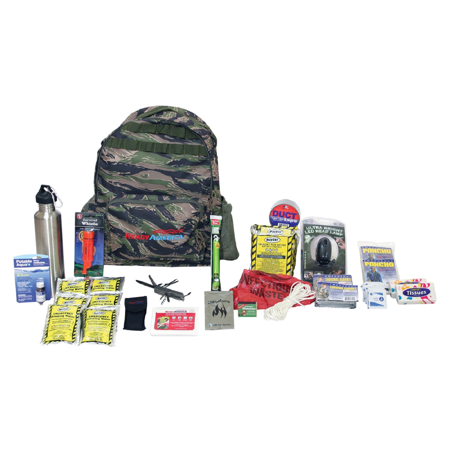 Ready America Emergency 2-Person Outdoor Survival Kit by Ready America