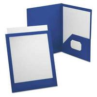 OXFORD Portfolio,Polypropylene,Blue/Clear 57441