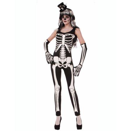 Women's Skeleton Jumpsuit Halloween Costume