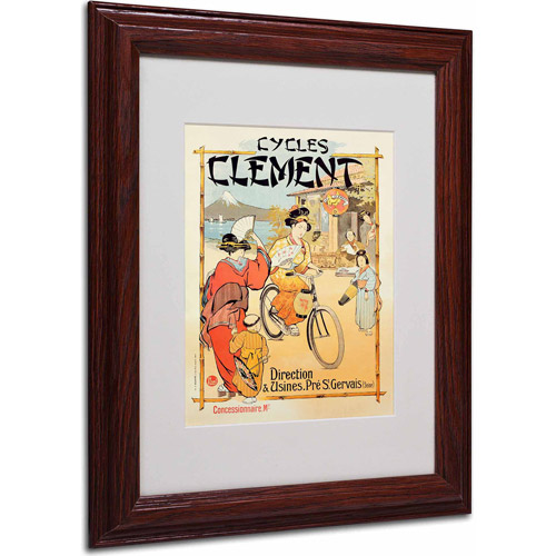 "Trademark Fine Art ""Cycles Clement"" Canvas Art, Wood Frame"