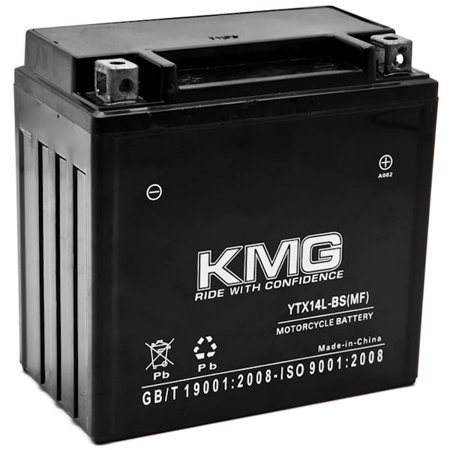 KMG YTX14L-BS Battery For Harley-Davidson 883 XL, XLH (Sportster) 2004-2012 Sealed Maintenace Free 12V Battery High Performance SMF OEM Replacement Powersport Motorcycle ATV Snowmobile Watercraft (Battery Water)